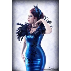 "Latex Damenkleid ""Blue Sky"""