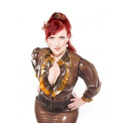 "Latex Bluse ""Gouverness"""