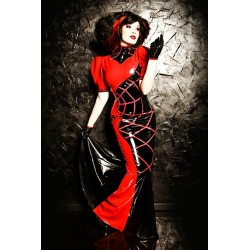 "Latex Kleid ""Spider Queen"" mit Swarovski Dekor"