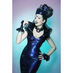 "kurze Latex Stulpen ""Gothic Nights"""