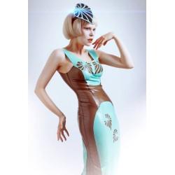 "Latex Kleid ""Lotus"" inkl. Kopfschmuck"