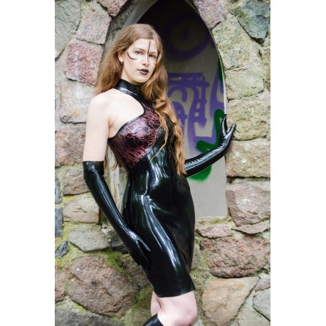 "Latex one Shoulder Kleid ""Jonesy """